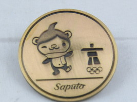 Vancouver 2010 Winter Olympic Games Pin - Saputo Foods Sponsor Pin -Gold Medal - $15.00