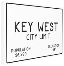Stupell Industries Key West City Limit Stretched Canvas Wall Art, Proudl... - $36.31