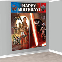 Star Wars The Force Awakens WALL POSTER Decoration Kit Scene Setter Birt... - $11.20