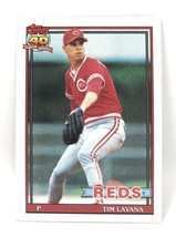 1991 Topps Baseball Card #627 - Tim Layana - Cincinnati Reds - Pitcher - $0.99