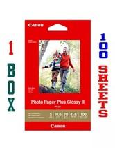 "100 Sheets ... Canon Photo Paper Plus Glossy Ii 4"" X 6"" 1 Box AA75 - $6.89"