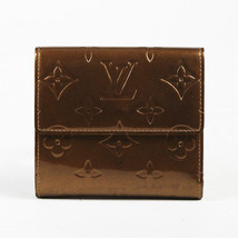 "Louis Vuitton Brown Monogram ""Vernis"" Patent Leather ""Elise"" Wallet - $385.00"