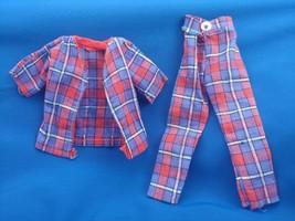 Vintage Barbie Ken Sleeper Set Pajamas Plaid Shirt Pants PJs - $17.95