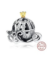 Cinderella Pumpkin Carriage 925 Authentic Silver Original Pandora Charm ... - $10.95