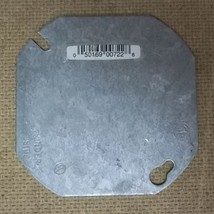 Raco 0722 4in Octagon Cover Blank Steel - $3.89