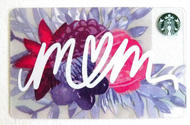 Starbucks New Empty Fillable Gift Card Floral Mom - $0.99