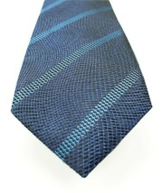NEW MENS ALFANI LINDA STRIPE BLUE 100% SILK NECK TIE $52 - $8.90