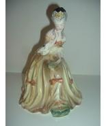 Goldscheider Seated Victorian Lady Looking in Mirror Figurine - $38.99