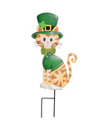 "Dressed Up St. Patrick's Day Cat - Garden Stake - Metal -11"" x 22"" Outsi... - $47.00"