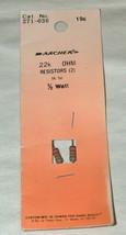 NOS (2) Archer Radio Shack Tandy 22k Ohm 5% Tol 1/2 Watts Résistances 27... - $9.09