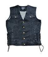 Black Denim Vest - $59.95