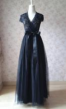 BLACK MAXI SKIRTS Plus Size Elastic Full Length Black Tulle Skirts Party... - $45.99