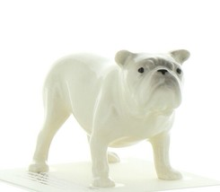 Hagen Renaker Dog Bulldog White Ceramic Figurine