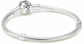 "AUTHENTIC Pandora Clasp Bracelet Sterling Silver Charm 7.5"" 590702HV NEW - $40.79"