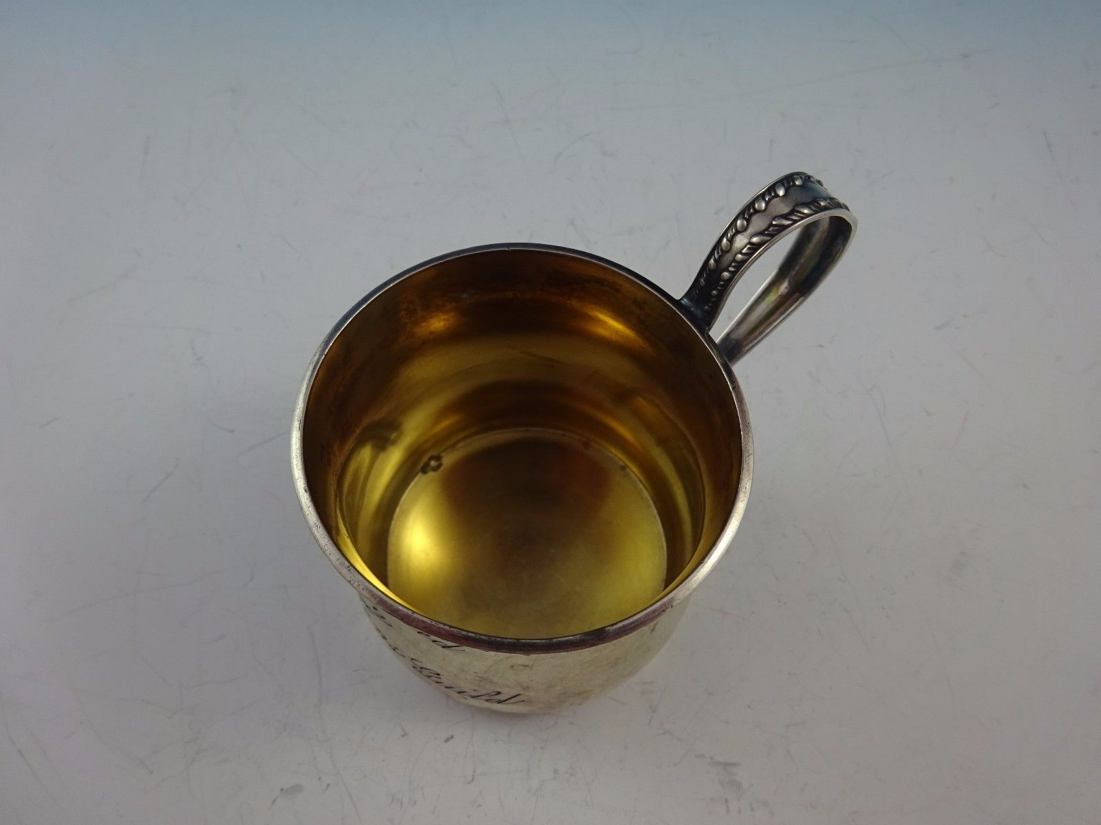 Towle Sterling Silver Baby Cup #274 w/Gold Wash (#3339)