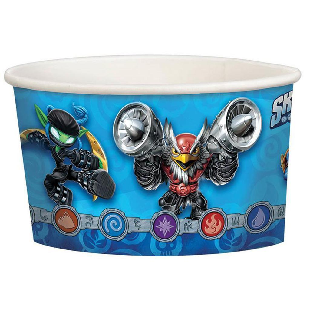 Skylanders Snack Ice Cream 9.5 oz Paper Cups 8 Per Package NEW