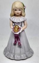 Vintage Growing Up Birthday Girls Blonde Age 8 Enesco 1981 No Box - $12.86