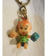 Flintstones 1994 Yarto Hard Plastic Pebbles Flintstone w/Blocks Key Chain - $5.95