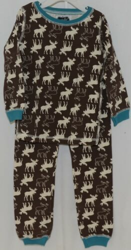 Mudpie Two Piece Lounge Set Size 4 T Moose Print 1012160