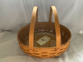 Longaberger 2015 Social Gathering Basket swinging handles and Plastic Pr... - $65.44