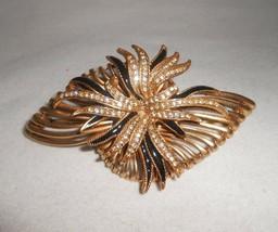Oscar de la Renta Brooch Rhinestones Starburst Statement Pin 1970's Desi... - $61.75