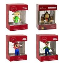 Hallmark Nintendo (DONKEY KONG,MARIO,LUIGI,LINK) Christmas Tree Ornament  - $46.40