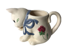 Lenox Poppies On Blue Cat Kitten Mug Easter Spring Country  Has Alot of ... - $11.87