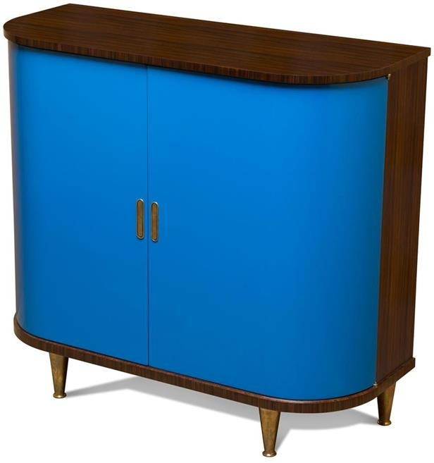 Scarborough House Wine Server Cobalt Blue Doors  Rosewood