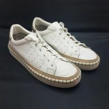 Sam Edelman Women's Sneakers White Leather Kavi Espadrille Size 10 M - $46.36 CAD