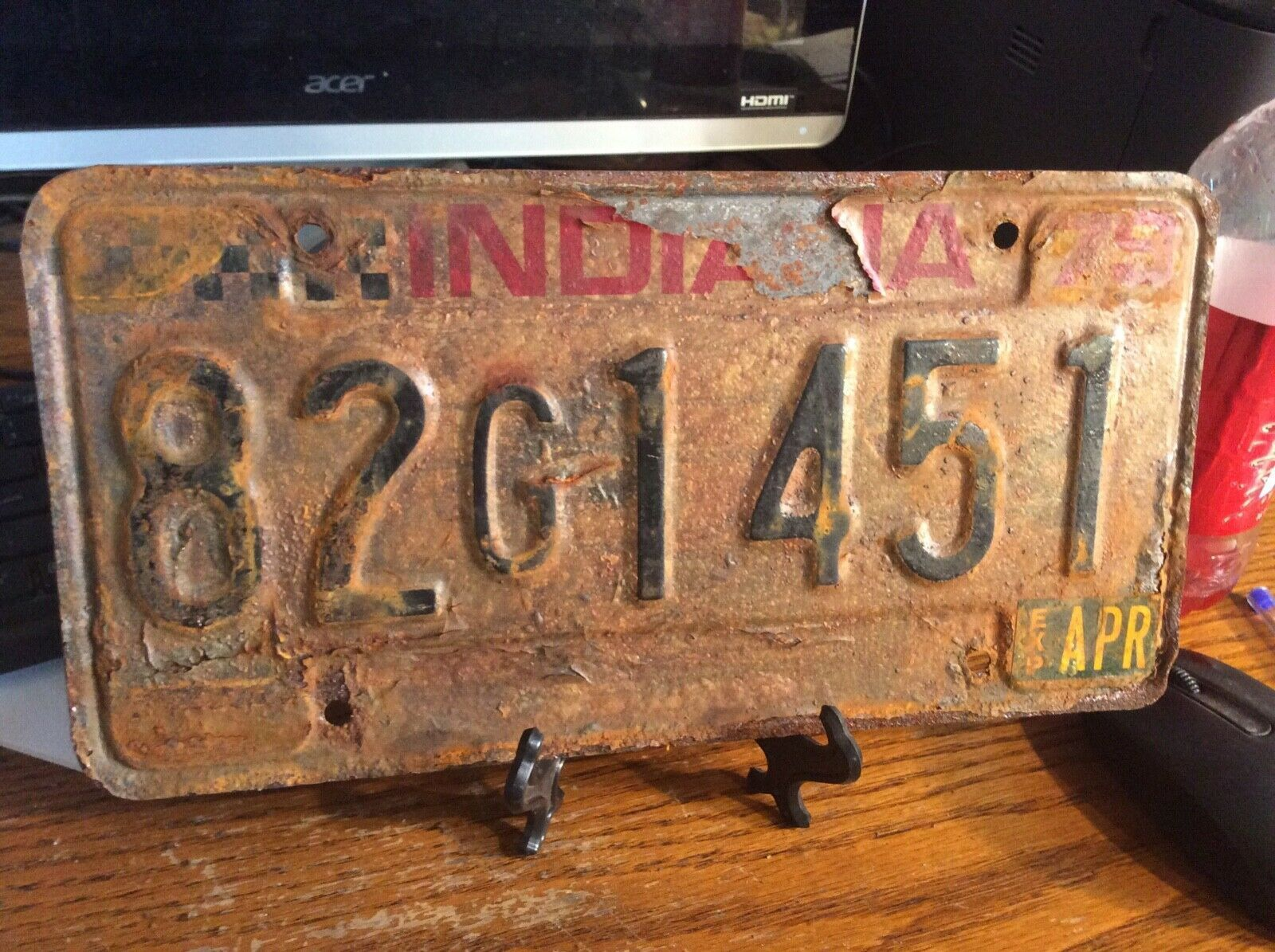 Primary image for Vintage Indiana License Plate -  - Single Plate  1979