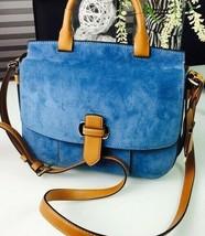 Michael Kors Romy Denim Blue Brown Large Crossbody Messenger Bag Leather❤Nwt❤ - $209.00
