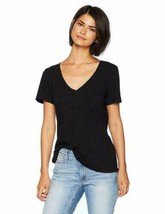 NEW n:PHILANTHROPY Women's Casual V-Neck Tee Shirt, Black Frisco, XL - $39.73