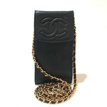 CHANEL CC CC Mark Pochette ChainShoulder Pouch Black/GoldHardware Caviar... - $780.00
