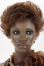 Dk Brown & Med Red Blend w/ Med Red Tips Short Jon Renau Wavy Wigs - $110.40