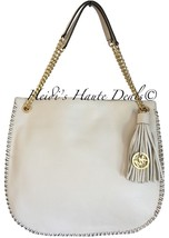 NWT MICHAEL KORS WHIPPED CHELSEA LG TOP ZIP SHOULDER TOTE IVORY LEATHER ... - $144.99