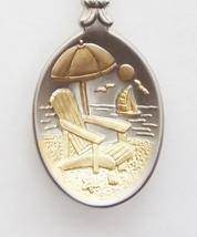 Collector Souvenir Spoon Cayman Islands Beach Chair Umbrella Bus Emblem - $16.99