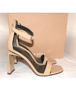 $295 Via Spiga Women's Faxon Ankle Strap Sandals Beige Nude Leather 7.5 - $89.00