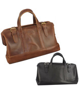 LEATHER HANDBAG ~ Travel Duffle & Carry On Bag Style Class Storage USA H... - $329.97
