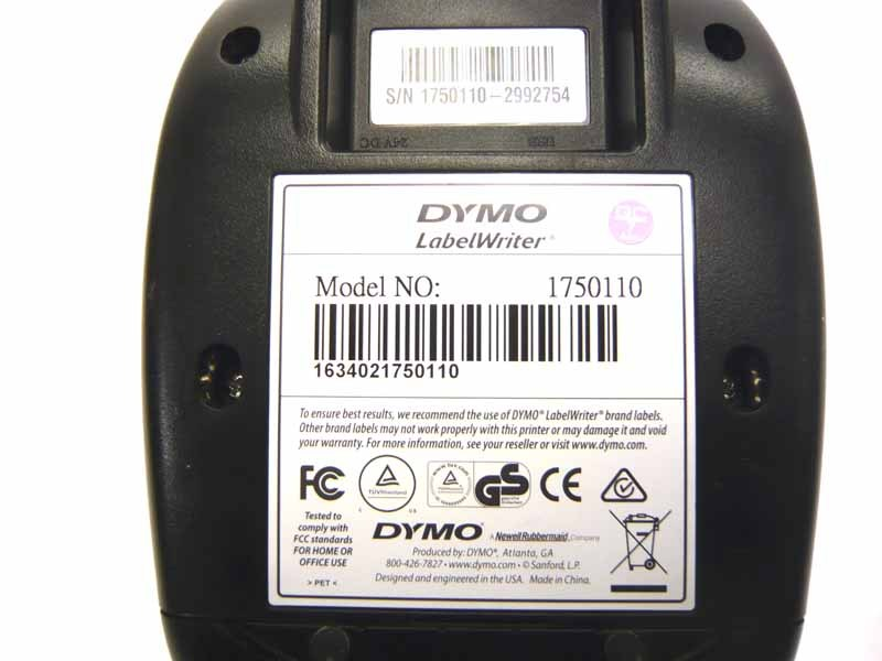 DYMO LABELWRITER 450 THERMAL LABEL PRINTER 1750110 W/ AC ADAPTER. DISCOUNTED!