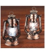 NEW Set 2 LED Metal Hurricane Lamp Decorative Lighting Home Table Lanter... - $49.49