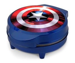 Marvel MVA-278 Captain America Shield Waffle Maker Blue Home Kitchen NEW - €17,42 EUR