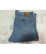 Lee Riders Straight Leg 42 X 32 Mens Blue Jeans Denim Vintage Made USA 4... - $24.99
