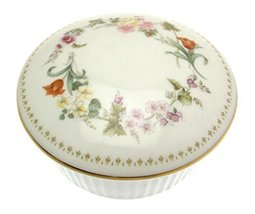 Wedgwood Mirabelle 4 inch round covered trinket box - design M4 - $48.41