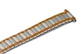 SPEIDEL 10-13MM SHORT ROSE GOLD TWO TONE RADIAL EXPANSION STRAP WATCHBAND - $19.79