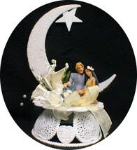 Disney Pocahontas John Wedding Cake Topper Ivory Or White Moon - $64.00