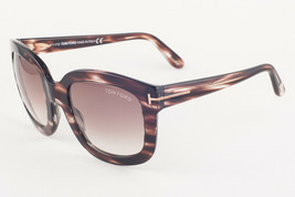 Tom Ford CHRISTOPHE Brown Horn / Brown Gradient Sunglasses TF279 49F - $155.82