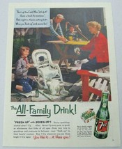 1954 Print Ad Seven Up Soda Pop Family Drinks 7 UP & Paints Outdoor Furniture - $10.87