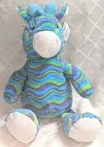 Fiesta A49886 Mod Squad 18 inch Multi Colored Waves Cuddle Giraffe image 1