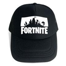 Fortnit Baseball Cap Snapback Hat Peaked Cap Summer Series Black Logo J - $15.99