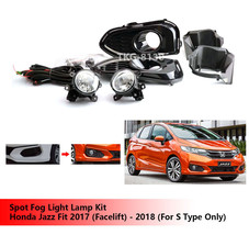 Spot Fog Light Lamp Kit For Honda Jazz Fit 2017 (Facelift) - 2018 (S Typ... - $116.88